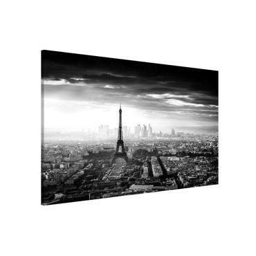 Lavagna magnetica - La Torre Eiffel From Above Bianco e nero - Formato orizzontale 3:2