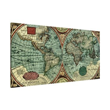 Lavagna magnetica - Worldmap Old World - Panorama formato orizzontale