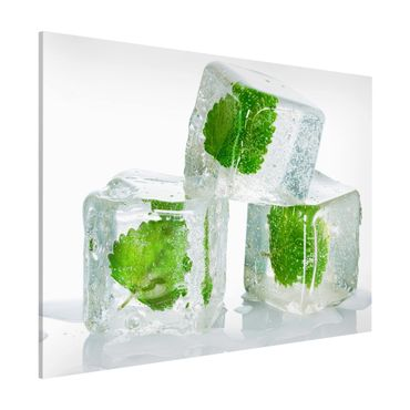 Lavagna magnetica - Three Ice Cubes With Lemon Balm - Formato orizzontale 3:4
