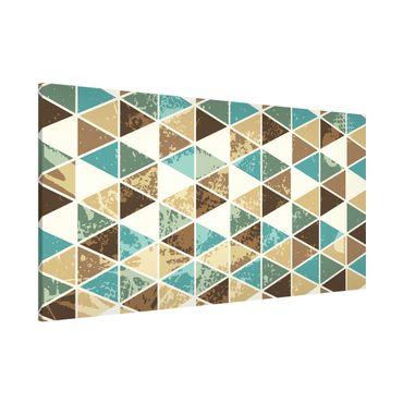Lavagna magnetica - Triangle Repeat Pattern - Panorama formato orizzontale