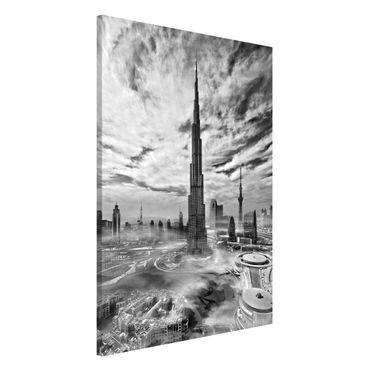 Lavagna magnetica - Dubai Super Skyline - Formato verticale 2:3