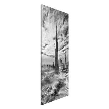 Lavagna magnetica - Dubai Super Skyline - Panorama formato verticale