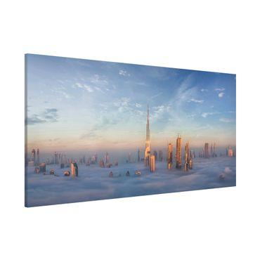 Lavagna magnetica - Dubai Sopra Le Nuvole - Panorama formato orizzontale