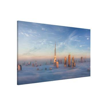 Lavagna magnetica - Dubai Sopra Le Nuvole - Formato orizzontale 3:2