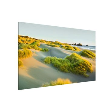 Lavagna magnetica - Dunes And Grasses At The Sea - Formato orizzontale