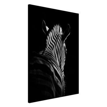 Lavagna magnetica - Scuro silhouette zebra - Formato verticale 2:3