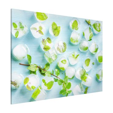 Lavagna magnetica - Ice Cubes With Mint Leaves - Formato orizzontale 3:4