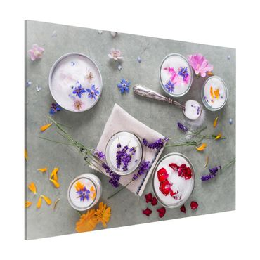 Lavagna magnetica - Edible Flowers With Lavender Sugar - Formato orizzontale 3:4