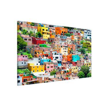 Lavagna magnetica - Coloured Houses Front Guanajuato - Panorama formato verticale