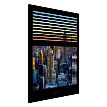 Lavagna magnetica - Window Blinds Sunrise New York - Formato verticale