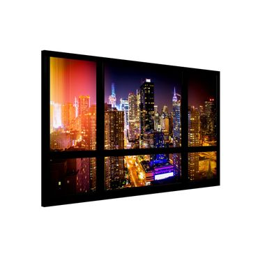Lavagna magnetica - Window Overlooking Manhattan At Night - Formato orizzontale
