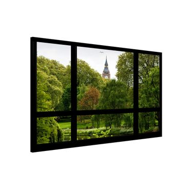 Lavagna magnetica - Window Overlooking St. James Park On Big Ben - Formato orizzontale