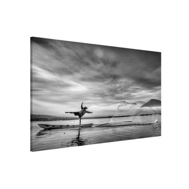 Lavagna magnetica - Fisherman Casts Net - Formato orizzontale 3:2