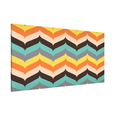 Lavagna magnetica - Herringbone Autumn Mood - Panorama formato orizzontale