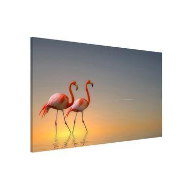Lavagna magnetica - Flamingo Love - Formato orizzontale 3:2