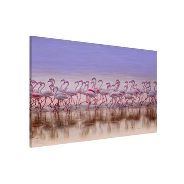 Lavagna magnetica - Flamingo partito - Formato orizzontale 3:2