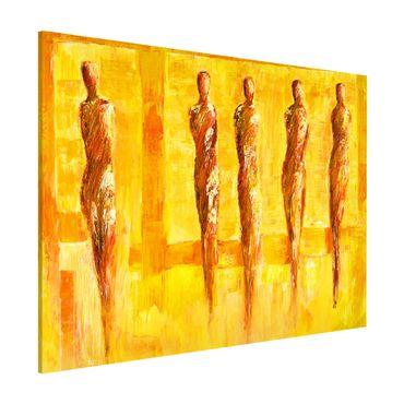 Lavagna magnetica - Petra Schüßler - Five Figures In Yellow - Formato orizzontale 3:4