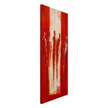 Lavagna magnetica - Petra Schüßler - Five Figures In Red 02 - Panorama formato verticale