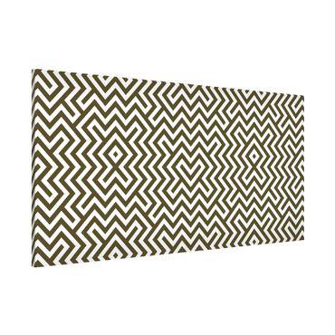 Lavagna magnetica - Geometric Design Brown - Panorama formato orizzontale