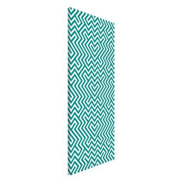 Lavagna magnetica - Geometric Design Mint - Panorama formato verticale