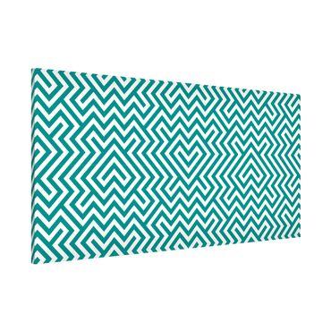 Lavagna magnetica - Geometric Design Mint - Panorama formato orizzontale