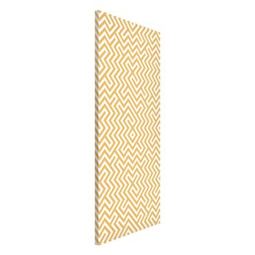 Lavagna magnetica - Geometric Pattern Design Yellow - Panorama formato verticale