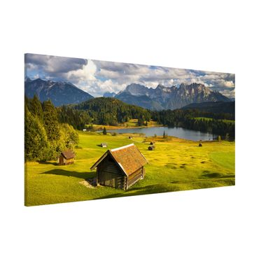 Lavagna magnetica - Geroldsee Upper Bavaria - Panorama formato orizzontale