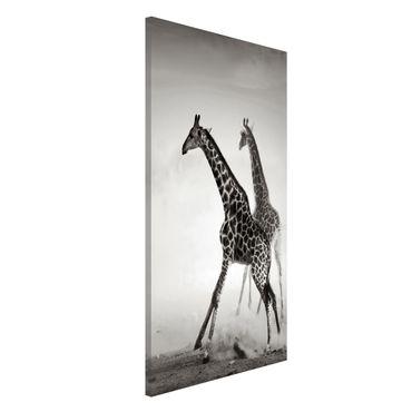 Lavagna magnetica - Giraffe Hunting - Formato verticale 4:3