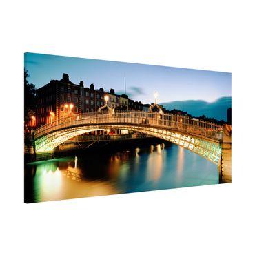 Lavagna magnetica - Ha'Penny Bridge - Panorama formato orizzontale