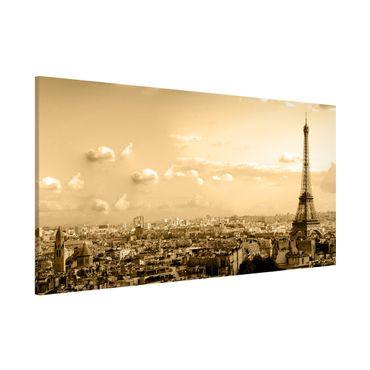 Lavagna magnetica - I Love Paris - Panorama formato orizzontale