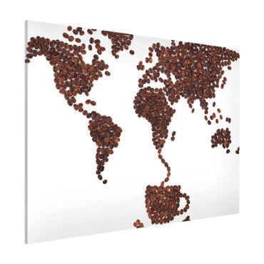 Lavagna magnetica - Coffee Around The World - Formato orizzontale 3:4