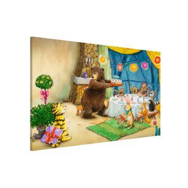 Lavagna magnetica - Il piccolo tigrotto - Birthday Party - Formato orizzontale 3:2
