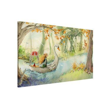 Lavagna magnetica - Lilia - The Swan Boat - Formato orizzontale 3:2