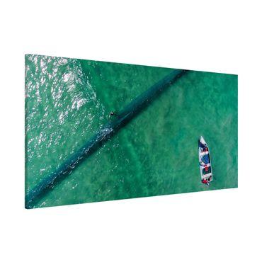 Lavagna magnetica - Veduta aerea - Pescatori - Panorama formato orizzontale