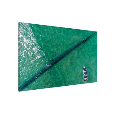 Lavagna magnetica - Veduta aerea - Pescatori - Formato orizzontale 3:2