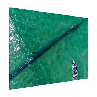 Lavagna magnetica - Veduta aerea - Pescatori - Formato orizzontale 3:4