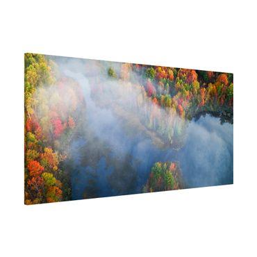 Lavagna magnetica - Veduta aerea - Sinfonia d'autunno - Panorama formato orizzontale