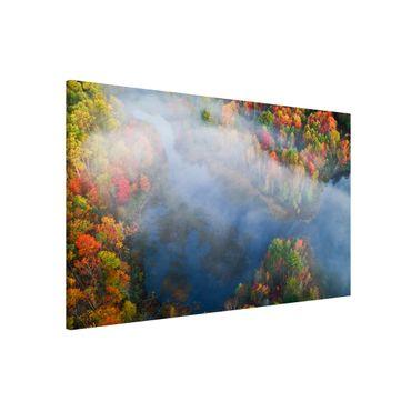 Lavagna magnetica - Veduta aerea - Sinfonia d'autunno - Formato orizzontale 3:2