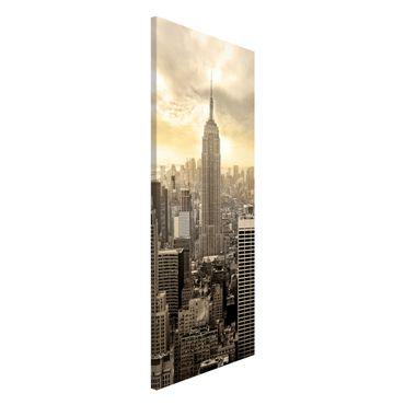 Lavagna magnetica - Manhattan Dawn - Panorama formato verticale