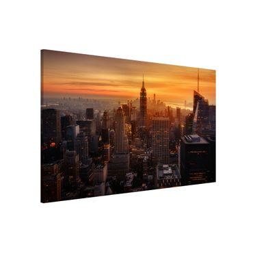 Lavagna magnetica - Manhattan Skyline Evening - Formato orizzontale 3:2