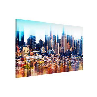 Lavagna magnetica - Manhattan Skyline Urban Stretch - Panorama formato verticale