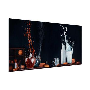 Lavagna magnetica - Milk And Tea Composition - Panorama formato orizzontale