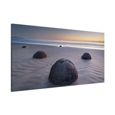Lavagna magnetica - Moeraki Boulders New Zealand - Panorama formato orizzontale