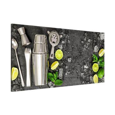 Lavagna magnetica - Mojito Mixed Drink - Panorama formato orizzontale