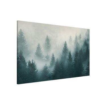 Lavagna magnetica - Coniferous Forest In Fog - Formato orizzontale 3:2