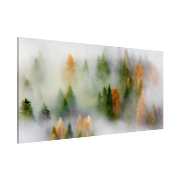 Lavagna magnetica - Nube di foresta in autunno - Panorama formato orizzontale
