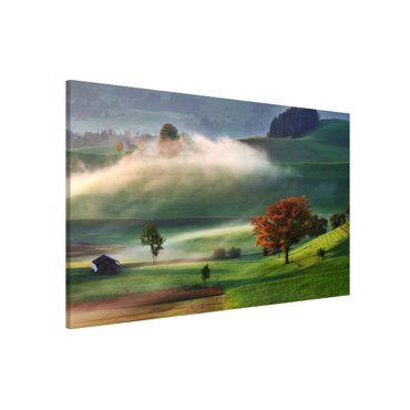 Lavagna magnetica - Misty Autumn Day Svizzera - Formato orizzontale 3:2