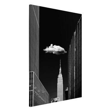 Lavagna magnetica - New York Con nuvola - Formato verticale 2:3