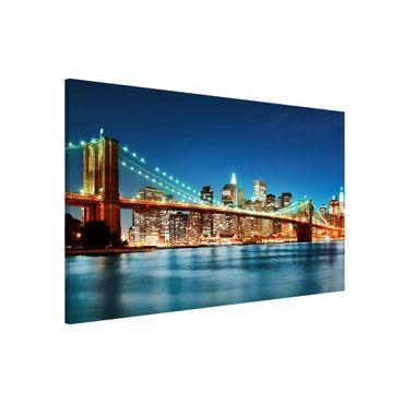 Lavagna magnetica - Nighttime Manhattan Bridge - Formato orizzontale