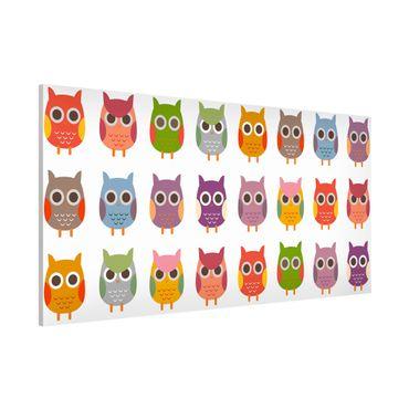 Lavagna magnetica - No.EK147 Owls Parade Set II - Panorama formato verticale